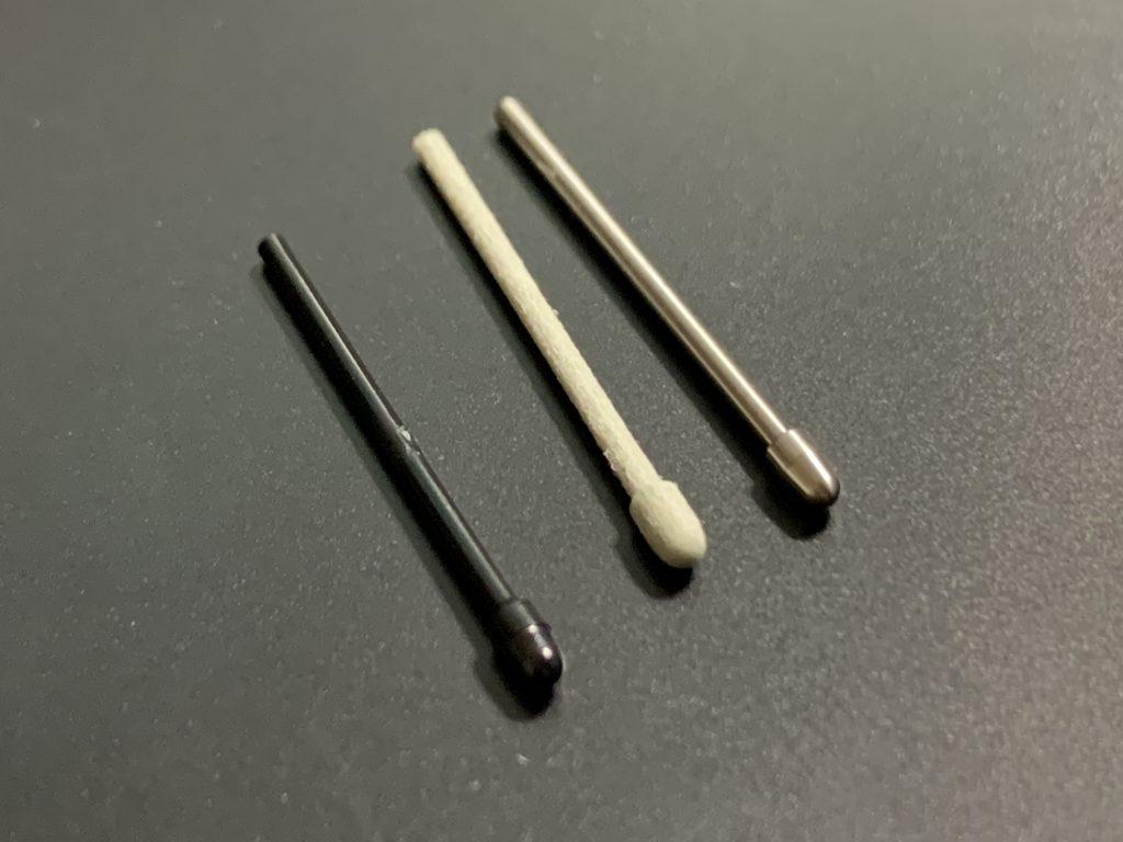 3種類のペン先