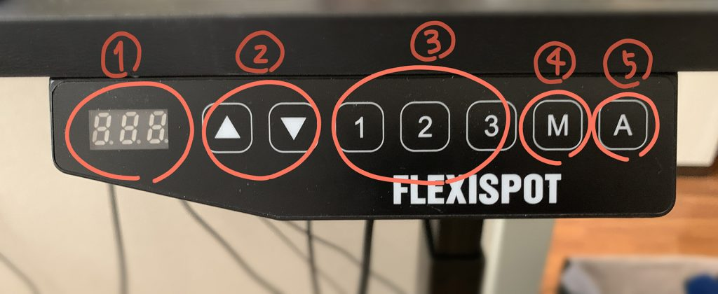 FlexiSpot 操作パネル